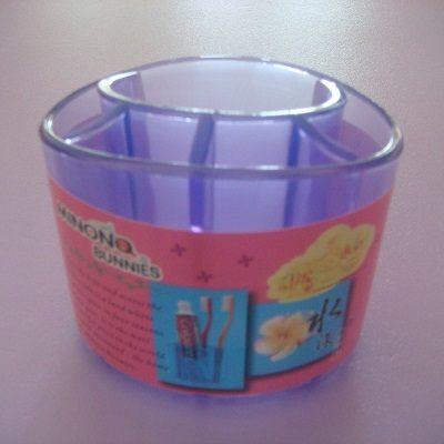 水漾牙刷架(紫藍色)/收納盒/置物架/筆架/可放牙刷.牙膏.梳子