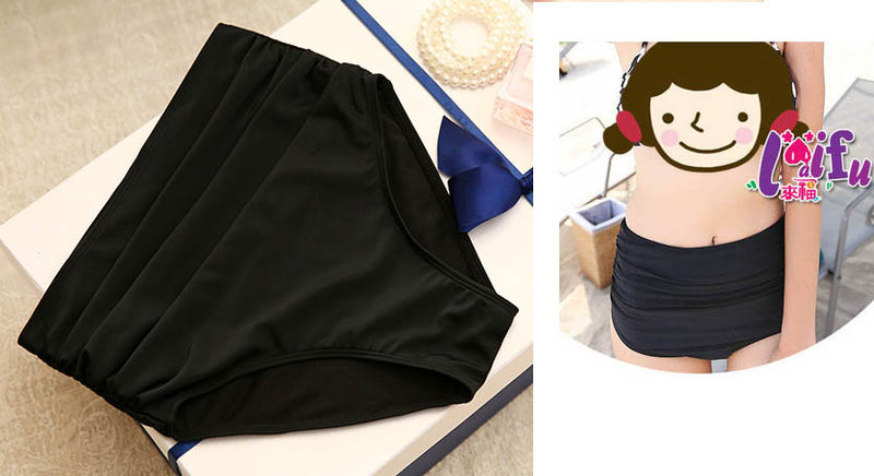 草魚妹V114單售女生高腰泳褲防妊娠纹防走光保守泳褲子有加大售價250元