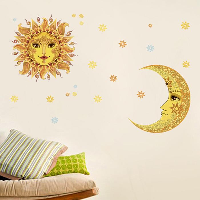 創意無痕壁貼太陽月亮生活美學