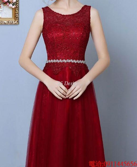 (45 Design)  7天到貨 長禮服伴娘禮服 結婚晚禮服姐妹裙長版禮服 韓式 洋裝 新娘敬酒服 連身裙10