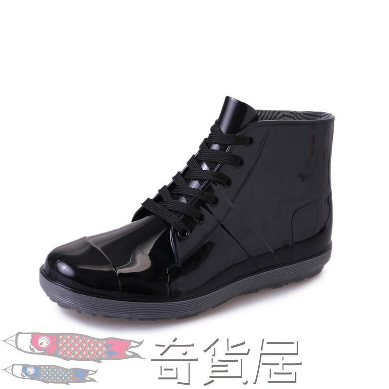 雨鞋男低筒水鞋雨靴短筒防水防滑膠鞋