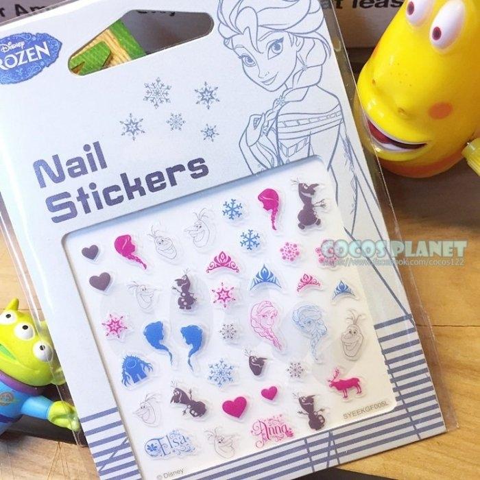 迪士尼指甲貼剪影冰雪冰雪奇緣安娜艾莎雪寶剪影美甲貼指甲貼紙指甲貼彩繪貼紙COCOS PF033