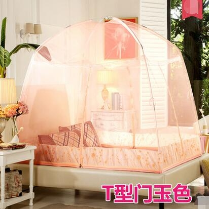 幸福居*蒙古包蚊帳三開門1.2單人學生宿舍1.5米拉鏈支架1.8m床雙人用10(主圖款 適用1.8M 6英尺床)