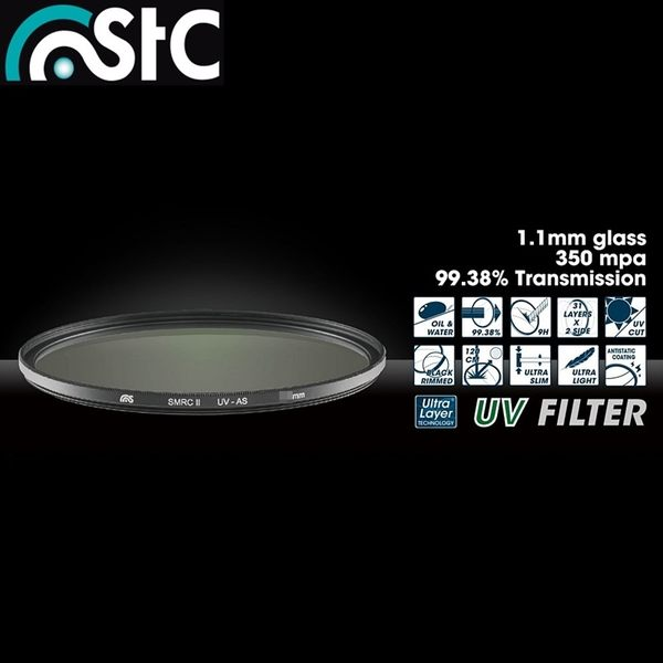我愛買STC多層膜防靜電薄框62mm保護鏡62mm濾鏡MC-UV濾鏡Olympus M.Zuiko Digital ED 12-40mm F2.8 PRO MZD M.ZD