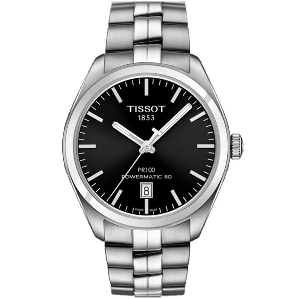 僾瑪精品TISSOT PR100簡約時尚大三針機械男錶-39mm T1014071105100
