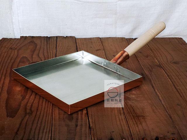 佐和陶瓷餐具批發19MD-1210 A 21cm日本正方型薄型純銅玉子燒日本玉子燒方型平底鍋