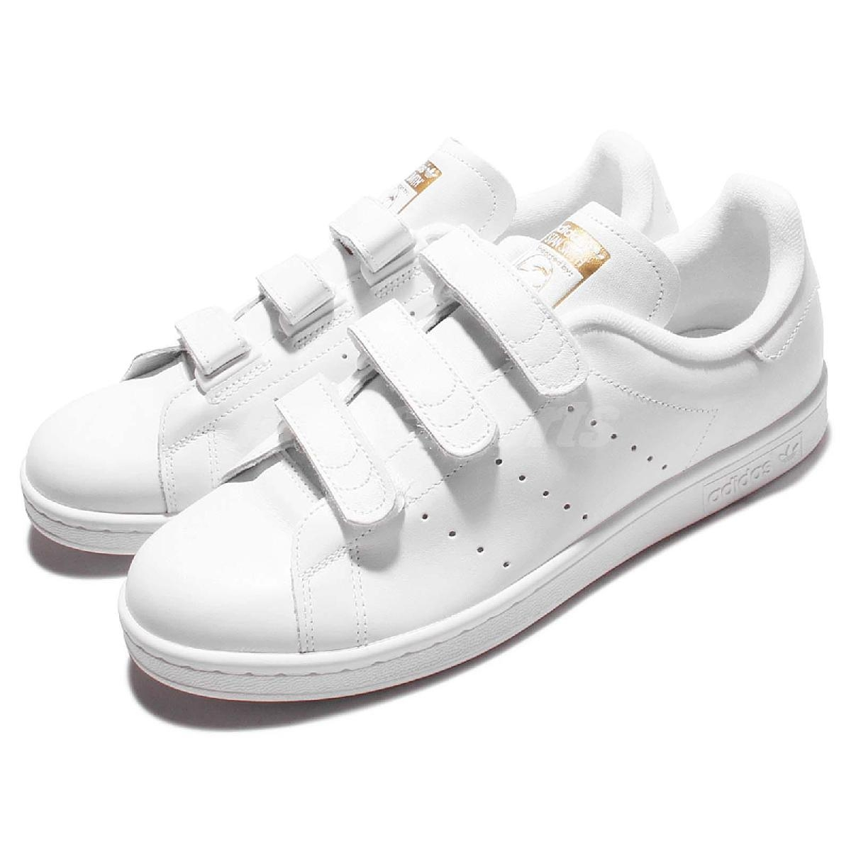 adidas休閒鞋Stan Smith CF白金魔鬼氈基本款百搭款男鞋女鞋PUMP306 S75188