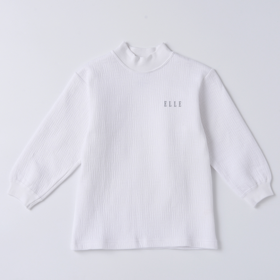 ELLE童三層棉小高領長袖上衣【中揚精品】2318