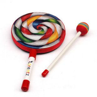 益智玩具 棒棒糖鼓 手鼓 樂器 6寸