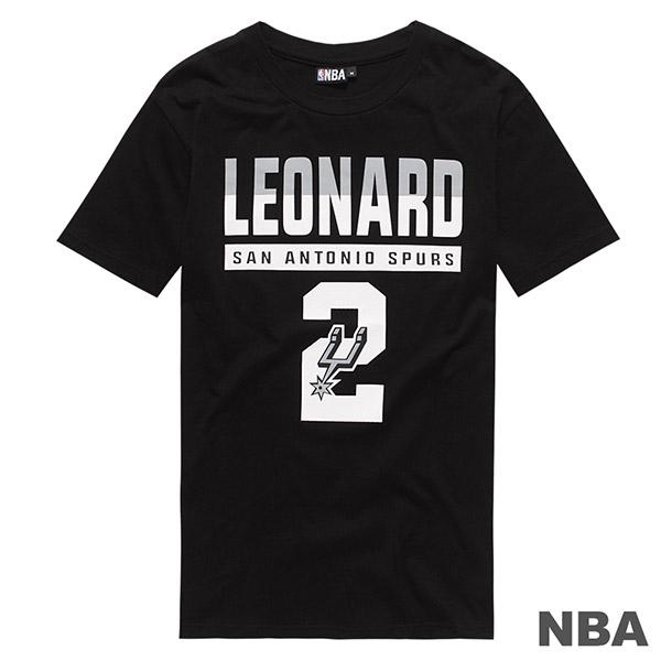 創信NBA短袖短T馬刺黑Leonard 2號碼T 8730257-020 Speedkobe