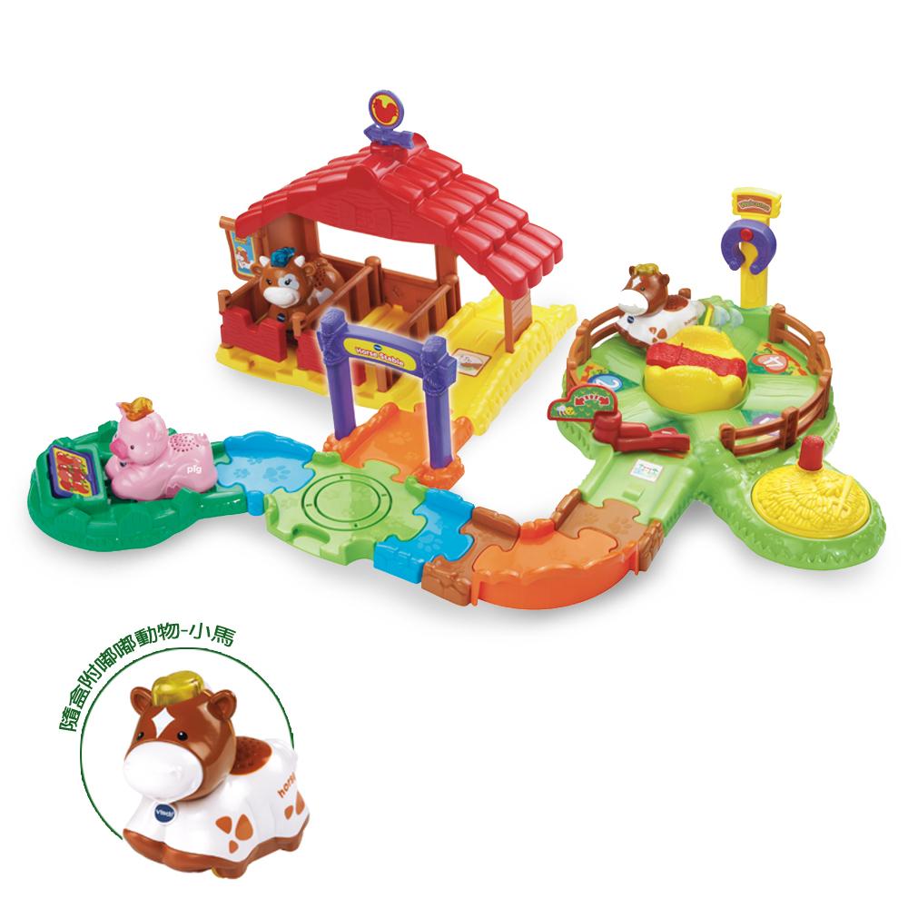 英國Vtech嘟嘟車系列嘟嘟動物系列-嘟嘟歡樂馬場JOYBUS玩具百貨