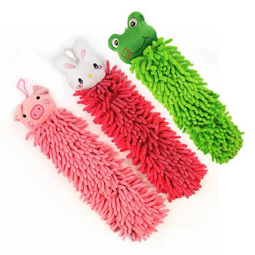 [AWANA]超細纖維動物長條擦手巾(三色可選)