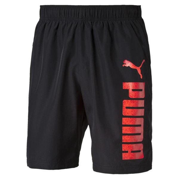 Puma Reble 男 黑紅 短褲 運動褲 8吋 慢跑 休閒 透氣 排汗 雙口袋 腰間抽繩 短褲 83836121