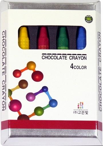 韓國進口巧克力蠟筆4色
