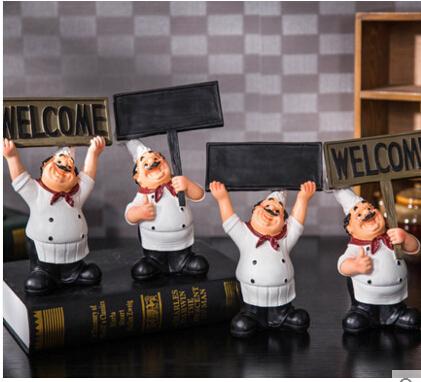 西餐廳廚師黑板歡迎牌餐牌擺件【歐璟美】