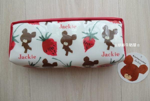 ☆草莓牛奶屋☆日本進口【Bear's School小熊學校】長條型筆袋(草莓)