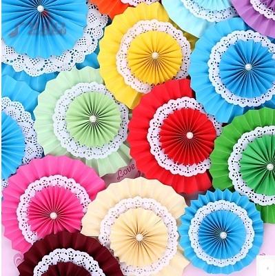 協貿國際三層紙扇立體紙花