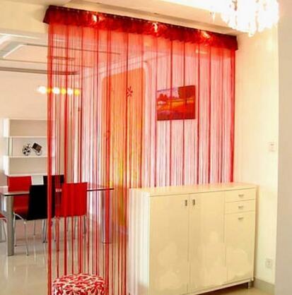 食尚玩家  加密加粗線簾裝飾門簾 隔斷簾   可定制尺寸   300cm加密線簾