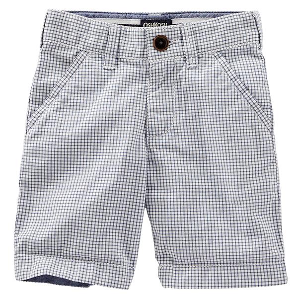 Carter's OshKosh B'gosh美國童裝短褲藍色格子9M 12M 18M 24M