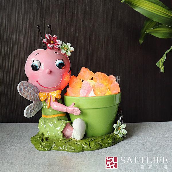 【鹽夢工場】創意造型鹽燈-蜜蜂娃