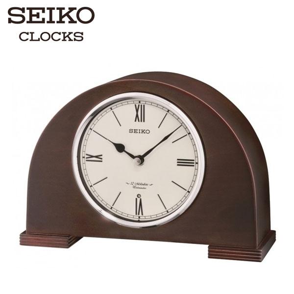 名人鐘錶SEIKO精工木質拱橋型音樂座鐘x鐘聲音樂兩用公司貨保固1年QXW239B