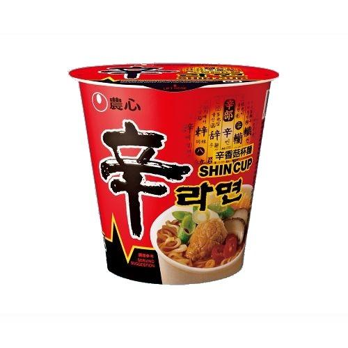 農心辛香菇杯麵68g愛買