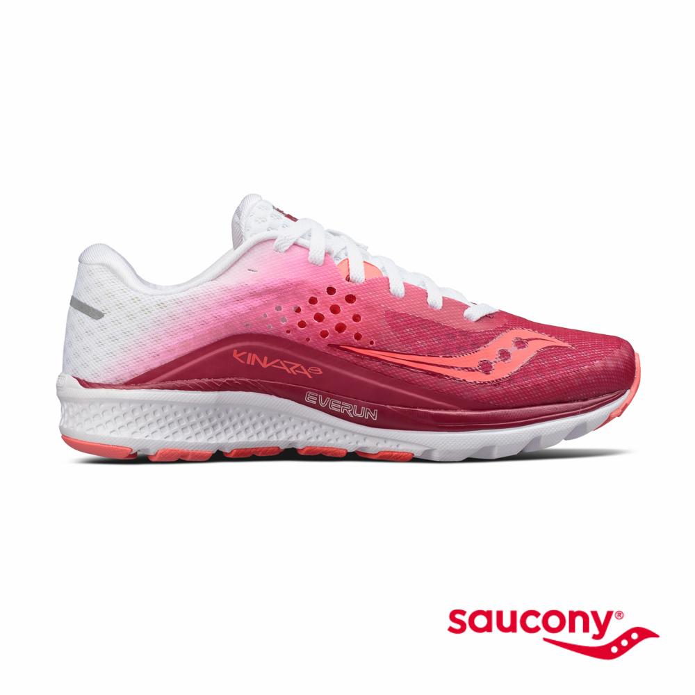 SAUCONY KINVARA 8專業訓練鞋款-莓果紅x白漸層