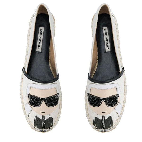 Karl Lagerfeld鞋 Q版草編鞋-白