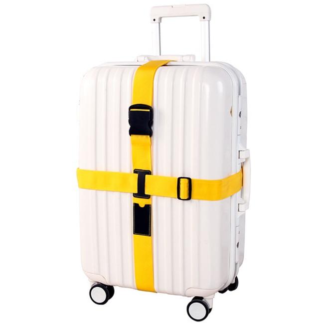 J精選潮流時尚馬卡龍色創意十字型行李箱束帶可選色