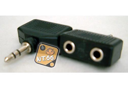 3.5立體頭-雙3.5立體轉接頭 (VD-19) (一入裝)