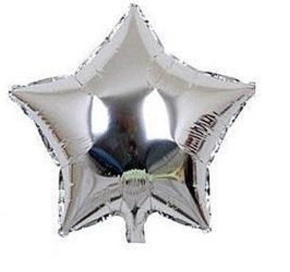 五角10吋鋁箔氣球-銀色(未充氣)~~求婚道具/婚禮 生日 耶誕節 尾牙佈置