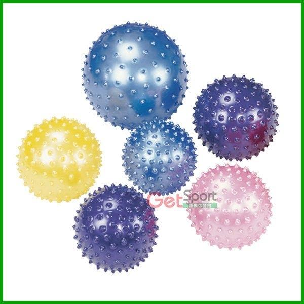 顆粒瑜珈小球(送充氣筒)(12吋瑜伽球/指壓按摩球/彈力球/抗力球/健身球/觸覺球/波波球)