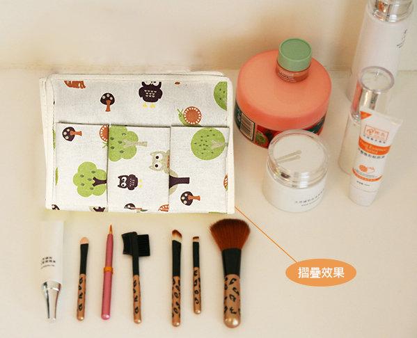 收納盒BNA040可愛動物桌上收納盒文創收納碎花桌上收納筆盒化妝盒化妝工具收納女王