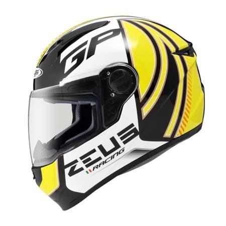 東門城ZEUS ZS811 AL2黑黃全罩式安全帽輕量化內襯全可拆流線型帽體設計