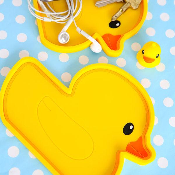 黃色小鴨矽膠托盤Yellow Duck黃色小鴨小鴨實用托盤矽膠找錢盤置物托盤