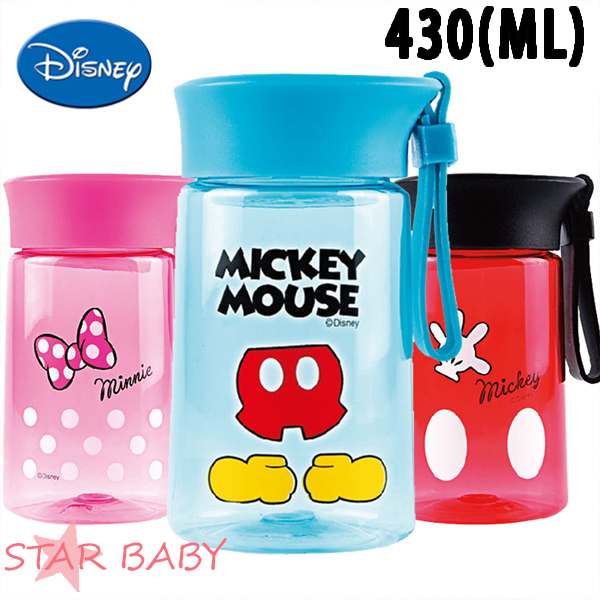 STAR BABY-正牌迪士尼新款米奇米妮兒童水壺水杯隨手杯密封杯直飲杯-附濾網430ML