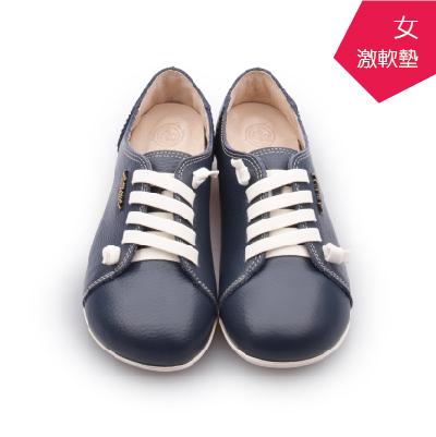 A MOUR經典手工鞋頂級牛革饅頭小牛藍氣墊鞋平底頂級小牛皮超軟饅頭鞋DH-2818