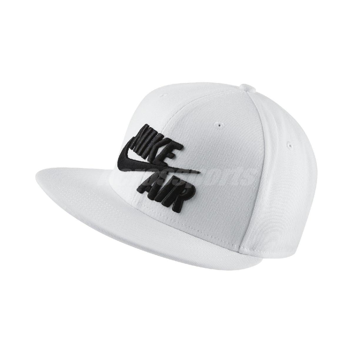 Nike帽子Air True Eos白黑電繡Snapback Cap黑白電繡LOGO後扣式棒球帽男女款PUMP306 805063-100