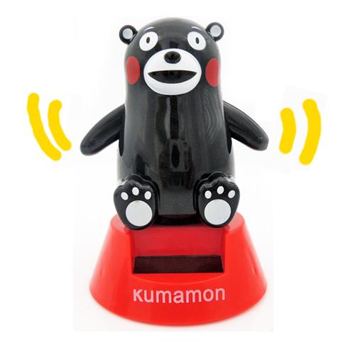 揮手款【日本進口正版】 熊本熊 太陽能公仔 太陽能娃娃 擺飾 療癒小物 Kumamon 庫瑪蒙 酷MA萌