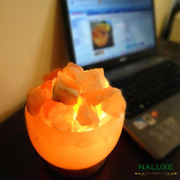 鹽燈 [Naluxe] 時尚開運水晶鹽燈-精巧聚寶盆(特價品)