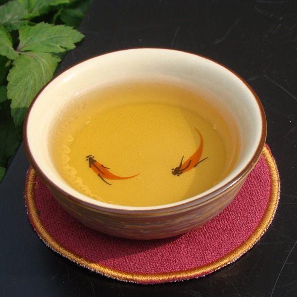 仿古手繪金魚五色普洱杯茶具窯變冰融手繪魚普洱茶杯