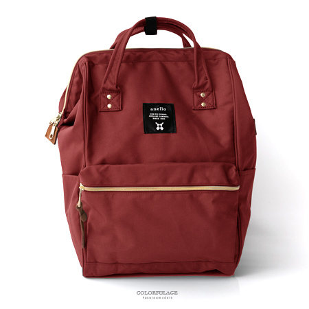 後背包日本anello手提大開口後背包雙肩背包大容量空間設計媽媽包柒彩年代NZ496單個售價