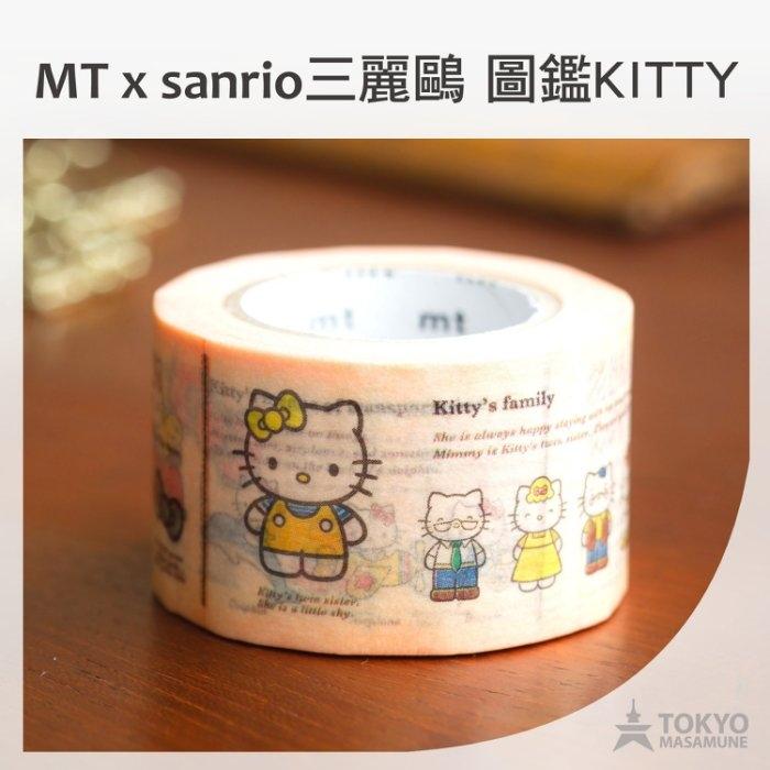 特價9折東京正宗日本mt masking tape紙膠帶mt x sanrio三麗鷗聯名限定KITTY圖鑑款