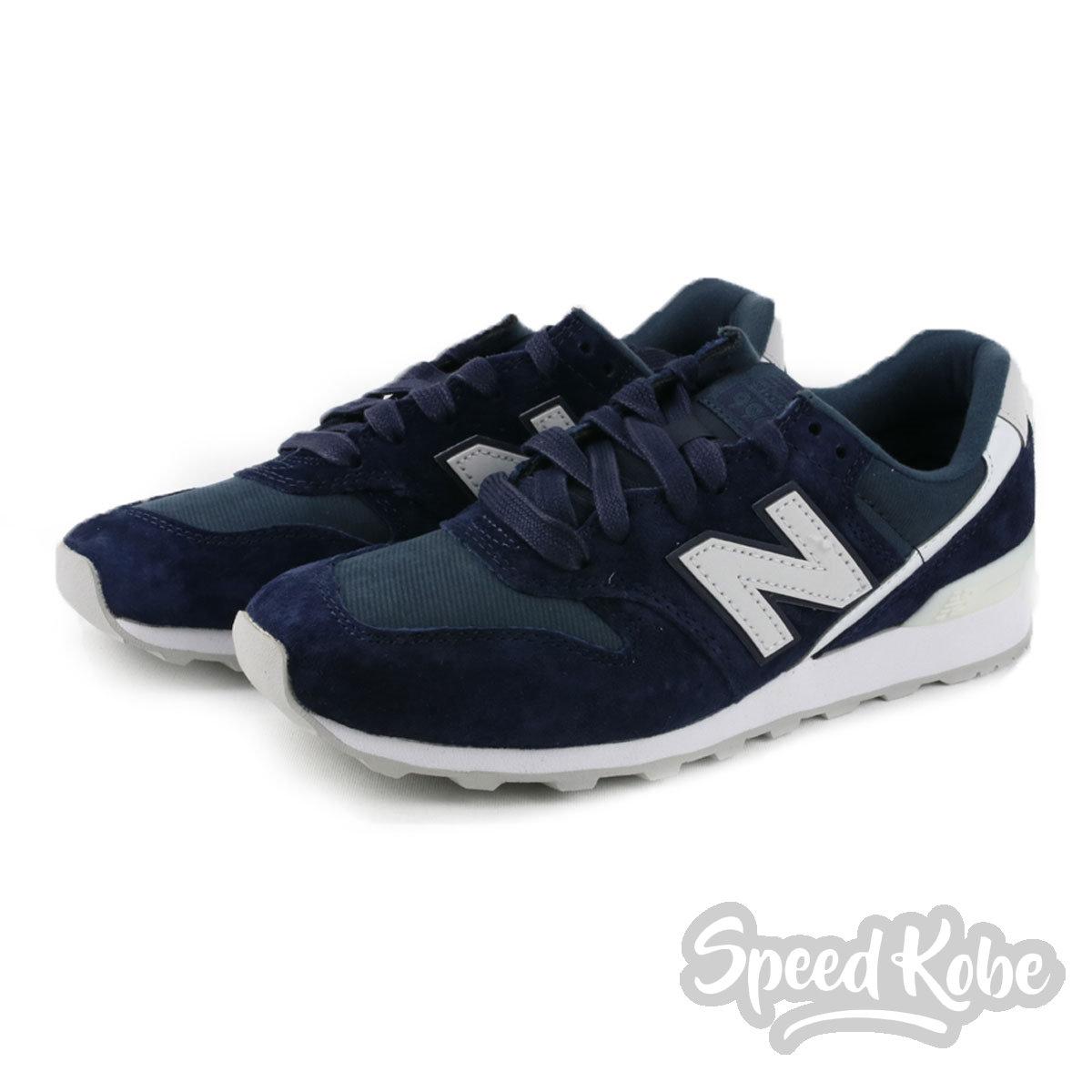 New Balance慢跑鞋996海軍深藍麂皮運動休閒女鞋WR996CGN Speedkobe