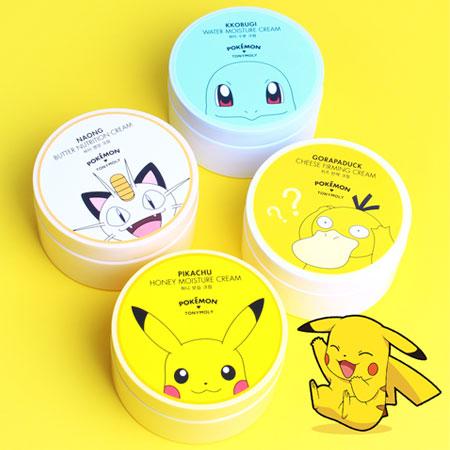 韓國TONYMOLY x Pokemon果凍水凝霜300ml保濕霜面霜寶可夢神奇寶貝皮卡丘傑尼龜喵喵可達鴨
