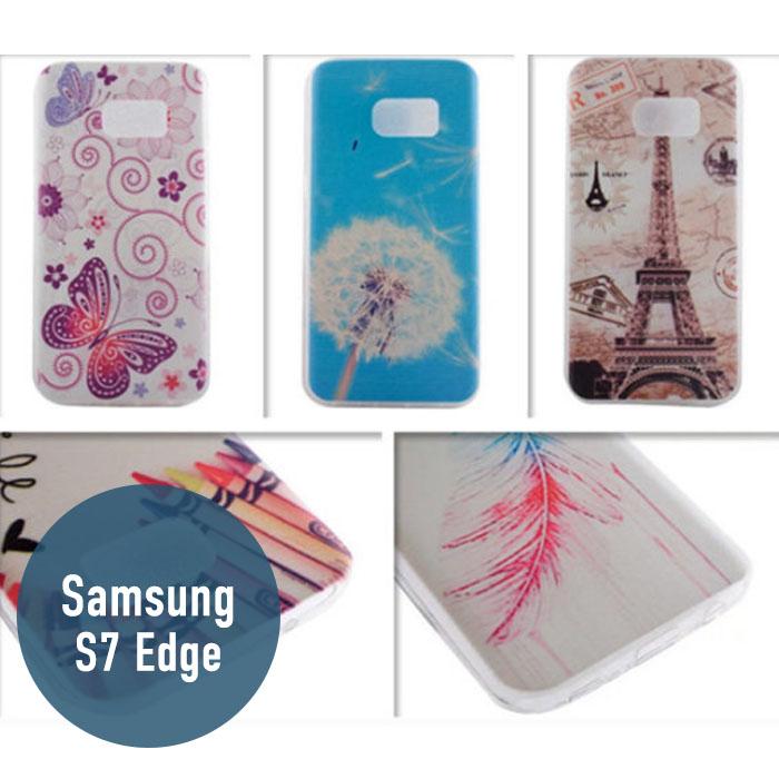 SAMSUNG三星S7 Edge彩繪TPU殼手機殼手機套保護殼保護套可愛卡通機殼