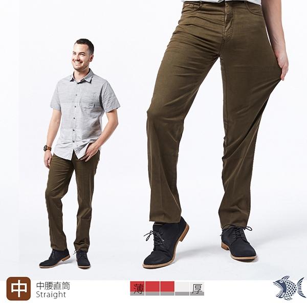 【NST Jeans】杜邦彈性纖維 昭和感咖啡色印花 休閒男褲(中腰) 397(66568) 台製 紳士 男 四季款