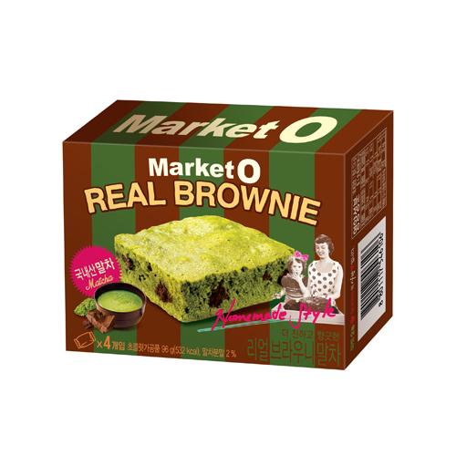 MARKET O 布朗尼蛋糕-抹茶風味96g【愛買】