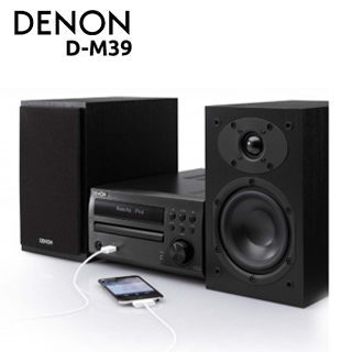 集雅社專櫃檯面展示DENON D-M39SBK頂級床頭音響公司貨分期0利率D-M39 DM39 iPhone USB