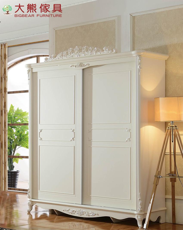 【大熊傢俱】QY806 歐式衣櫃 推門衣櫃 趟門衣櫃 儲物櫃 收納櫃 衣櫥 法式衣櫃 另售床台 床頭櫃